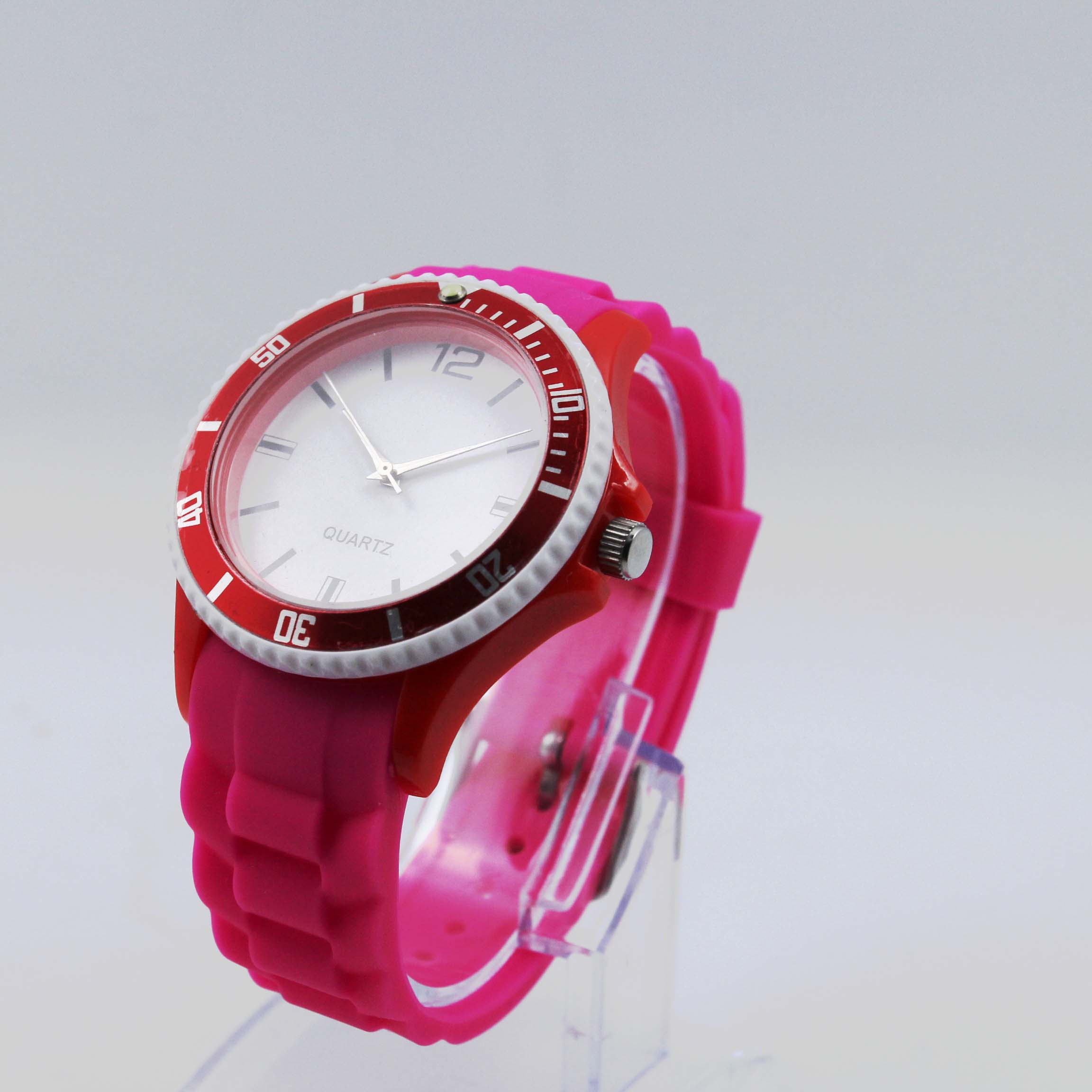 wyatt product pink watch kors silicone gallery lyst in watches silver accessories michael tone normal
